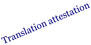 Translation attestation